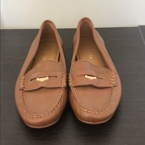 Brown Leather Coach Penny Loafers size 6.5